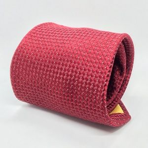 DONALD J. TRUMP Red & White President Luxury Tie